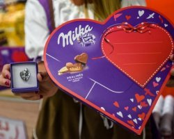 Milka Valentine - 624 promotional activities in 2 days